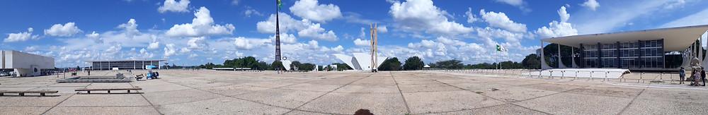 Praça dos 3 poderes (foto panorâmica)