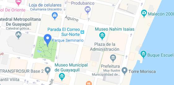 Mapa da região do Parque Seminario