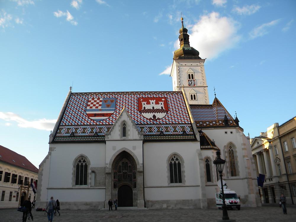 Igreja de São Marcos - Croácia  (Foto: André Ramalho)