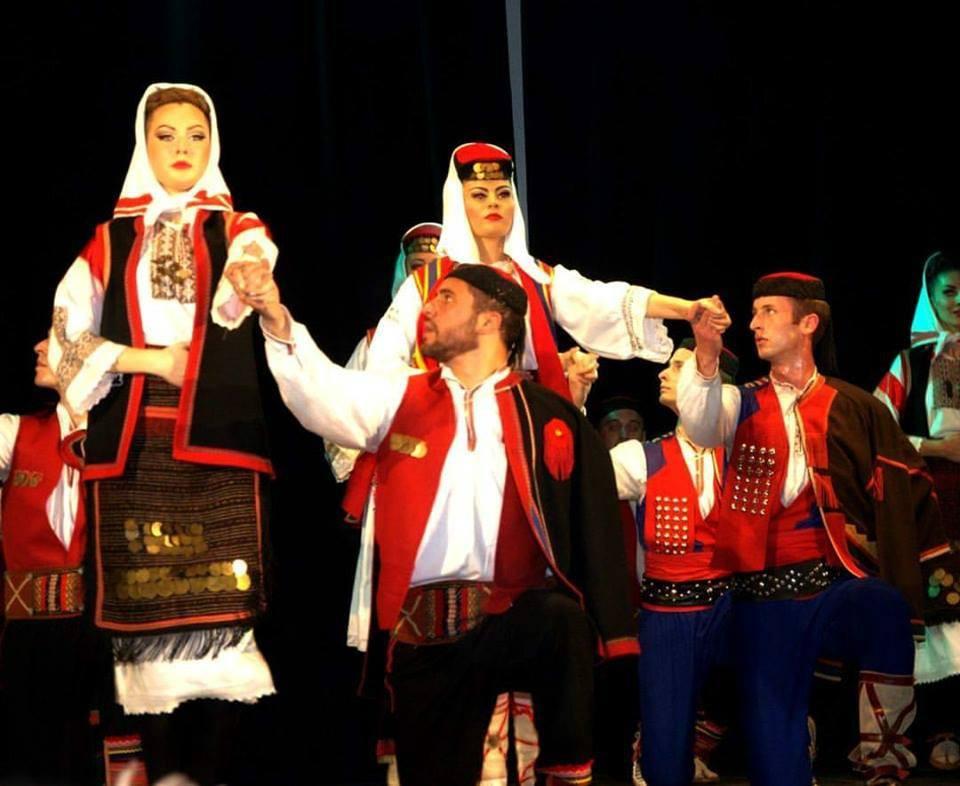Apresentação de dança sérvia