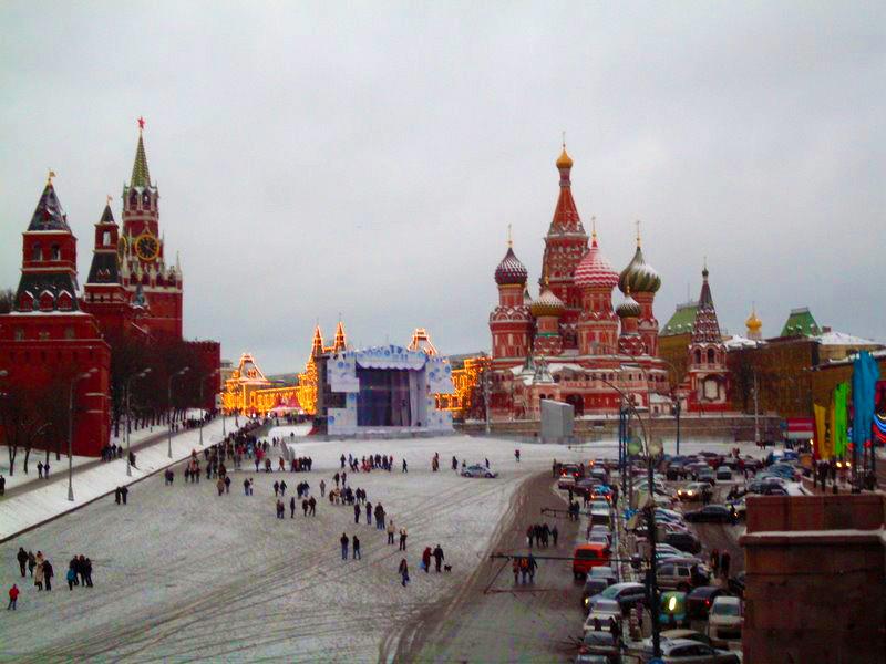 Foto: Olga Alyokhina Alves (guia de turismo e intérprete e tradutora russo/português) - Praça Vermelha em Moscou