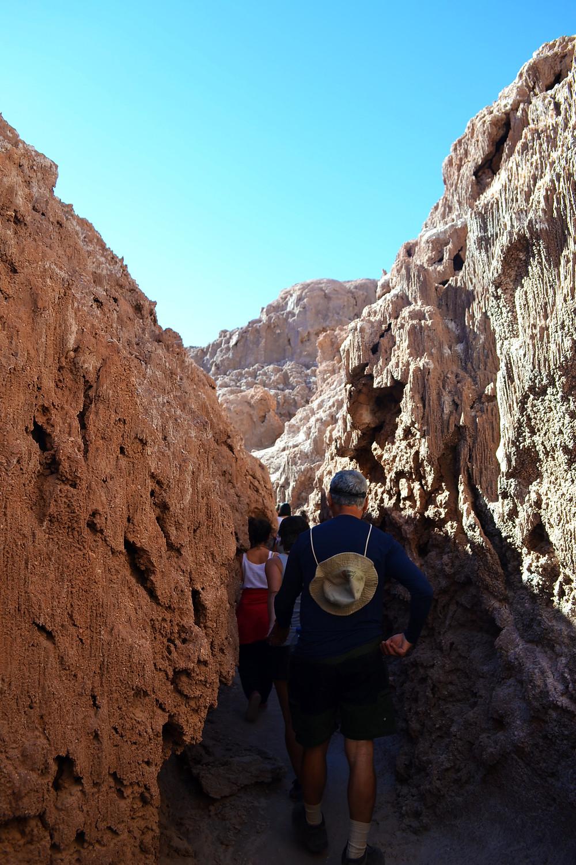 Valle de La Luna - entre paredões de areia