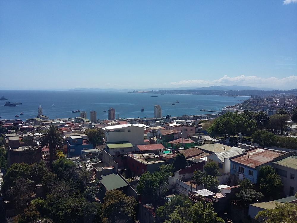 Vista da Casa de Neruda (La Sebastiana)