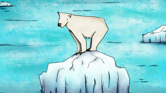 polar bear on iceberg   Concept design