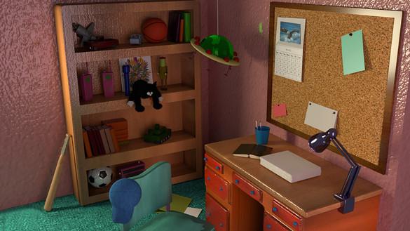 Bart's bedroom   3D