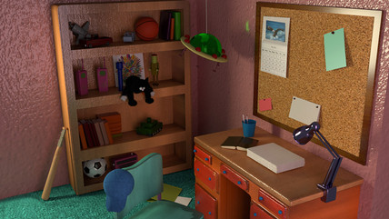 Bart's bedroom | 3D