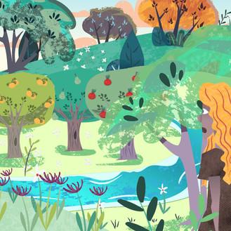 Fruit-garden   Illustration