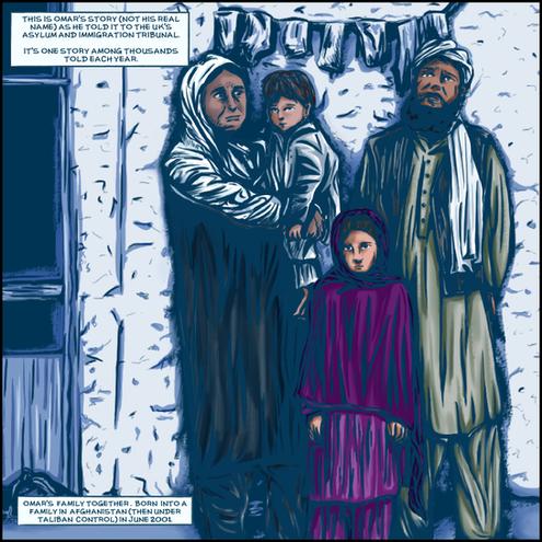 Omar's story - comic strip 2019