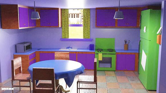 Simpsons kitchen   3D
