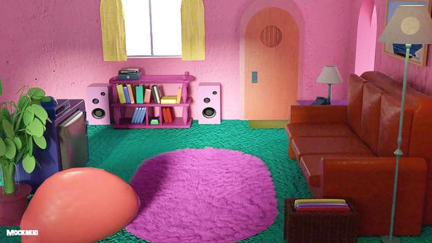 Simpson livingroom   3D