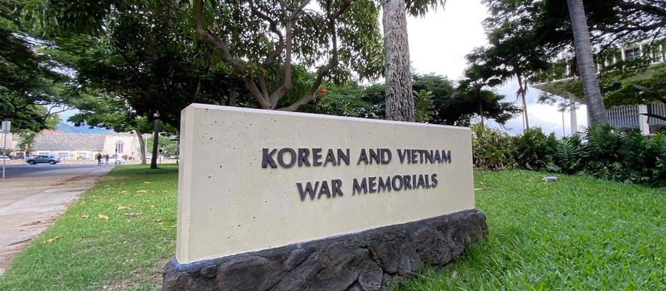 Korean and Vietnam War Memorials and 'Iolani Palace