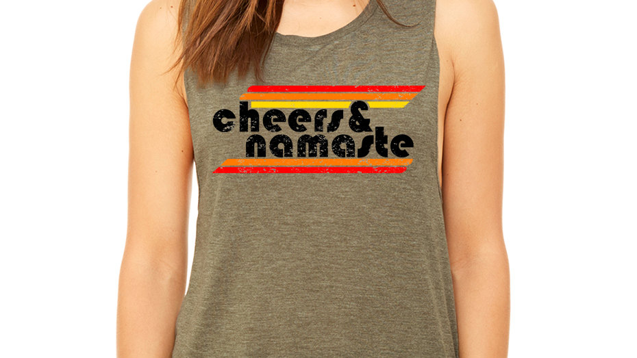 Scoop Back Muscle Tee - Heather Olive