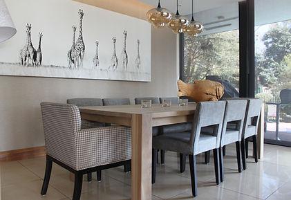 Interior design, dining room, interior decortator, johannesburg, contemporary design