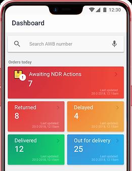 dashboard showing realtime staus