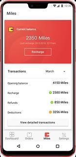 Seller app Wallet page