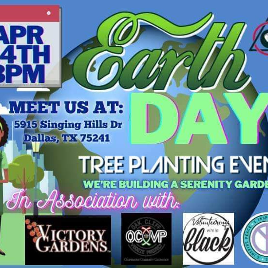 Earth Day Tree Planting & Serenity Garden Event