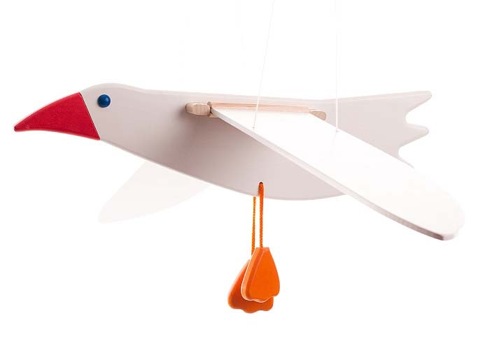 Wooden mobile Seagull