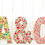 Thumbnail: Liberty print fabric wooden letter - Rouge shades