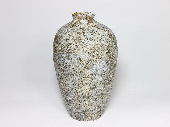 Blue Bronze Vase with Manganese