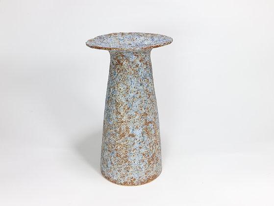 Speckled Blue Vase with Cobalt