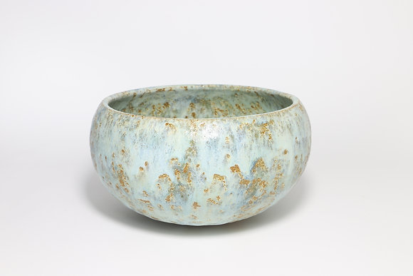 Pale Blue Green Bowl with Copper