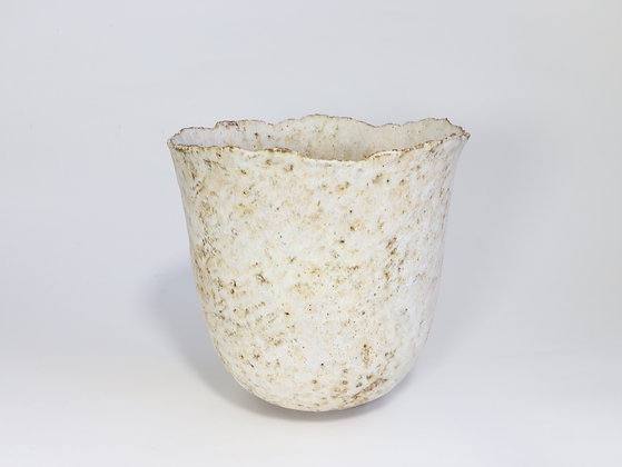 Pale Yellow Pot with Pink & Zinc