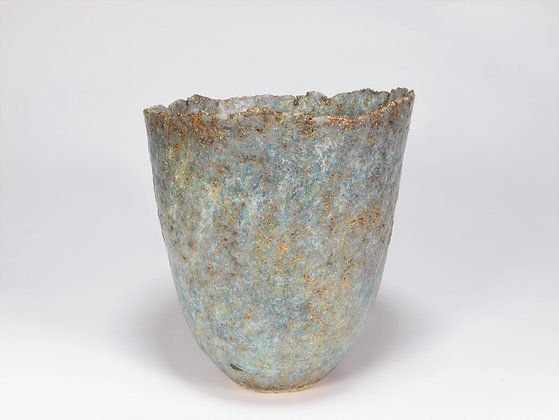 Blue Green Pot with Copper