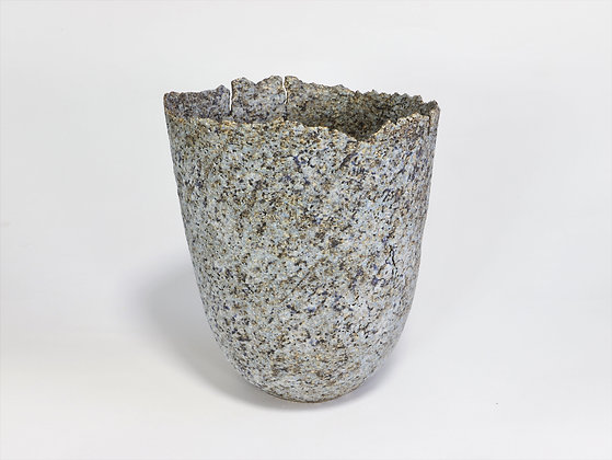 Speckled Blue Pot with Manganese