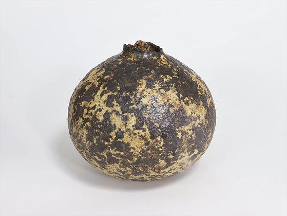 Dark Bronze & Gold Pod with Rutile