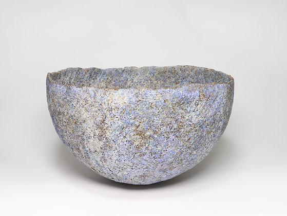 Large Bowl with Blue & Manganese