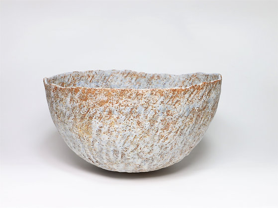 Bowl with Pale Blue & Manganese