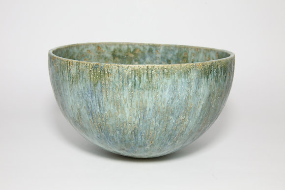 Green Bowl with Copper