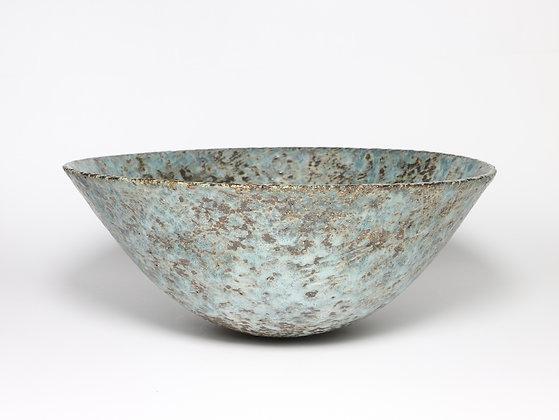 Sea Blue Bowl with Copper & Rutile