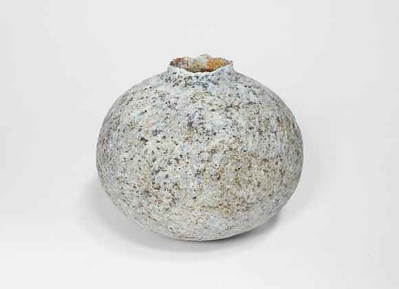 Speckled Pale Blue Pod with Manganese
