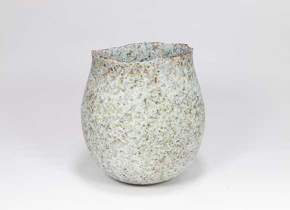 Pale Grey Green Pot with Manganese