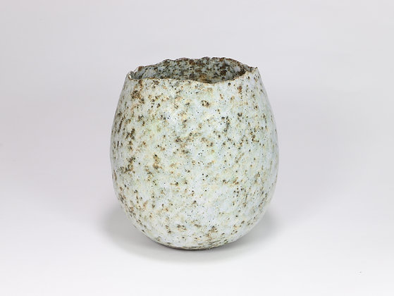 Speckled Teal Pot with Chrome
