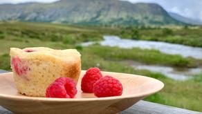 Hindbærmuffins med marcipan