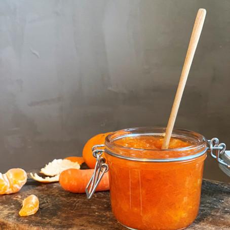 Klementin- og gulerodsmarmelade