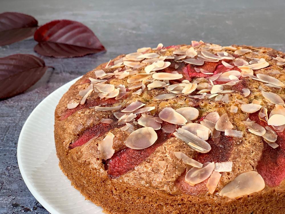 Vegansk bagt æblekage