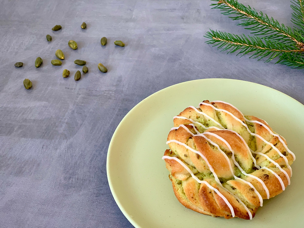 Veganske pistaciesnurrer
