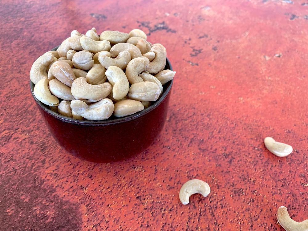 Veganske saltede cashewnødder