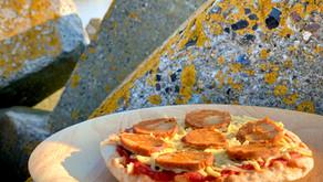 Pizza med vegansk chorizo
