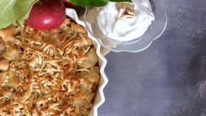 Æbletærte med marcipancrumble