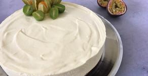 Passionsmoussekage med hvid chokolade