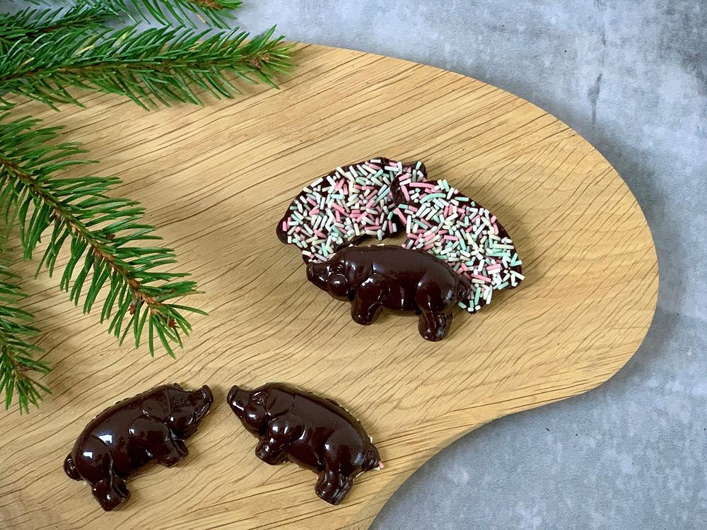 Veganske chokoladegrise