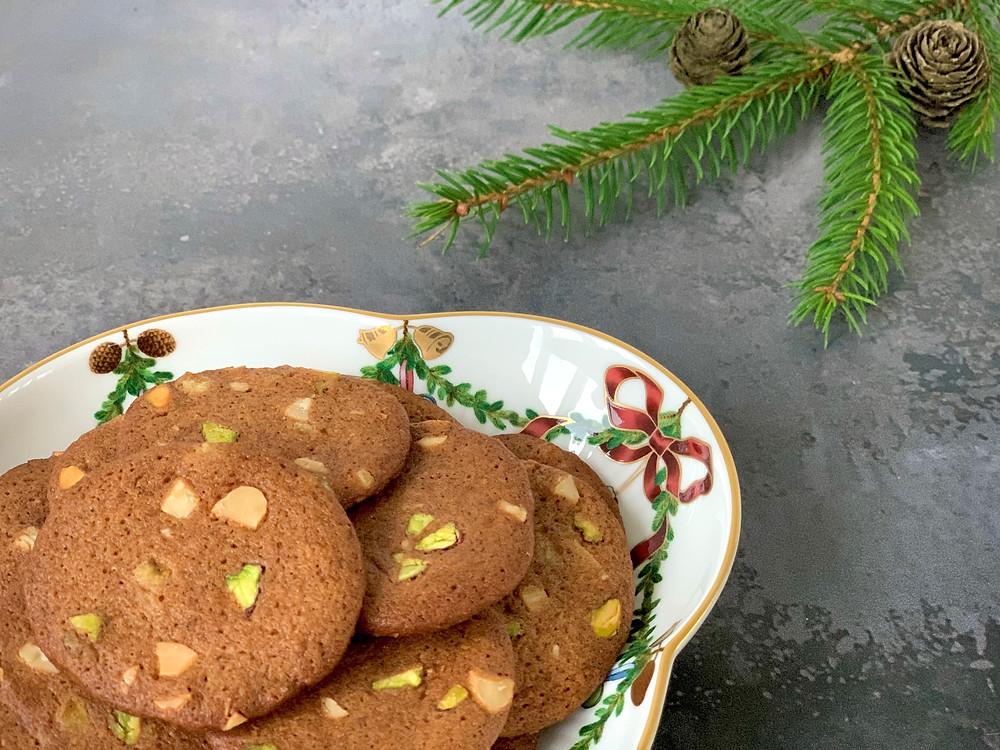Veganske brunkager med mandel og pistacie