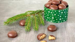 Chokoladeovertrukne pebernødder