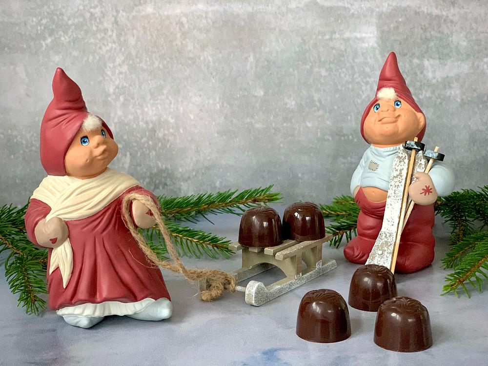 Veganske fyldte chokolader med Amarena-kirsebær