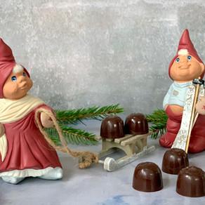Fyldte chokolader med Amarena-kirsebær