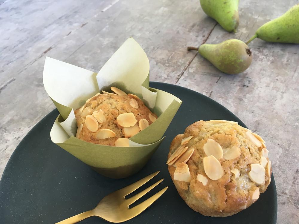 Veganske pæremuffins